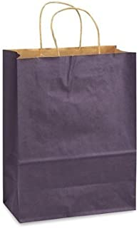 Purple Bags, 15 Large Kraft Paper Gift Wrap Bags (13