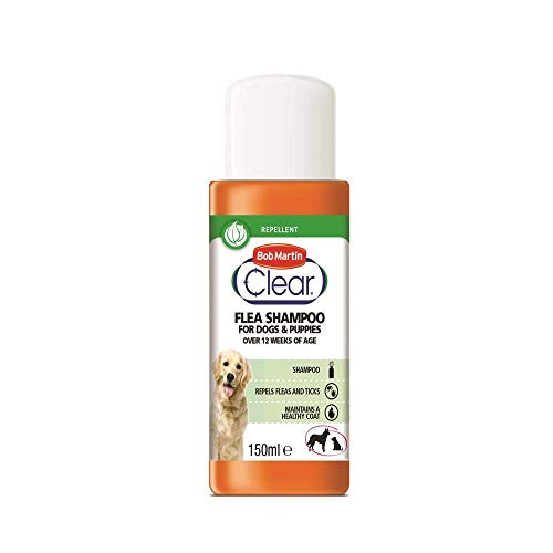 Bob Martin Flea Shampoo for Dogs and Puppies, 150 ml