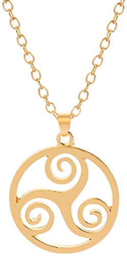 huangxuanchen co.,ltd Necklace The Movie Teen Wolf Triskelion Inspired Pendant Necklace Gold Silver Color Round Women Jewelry