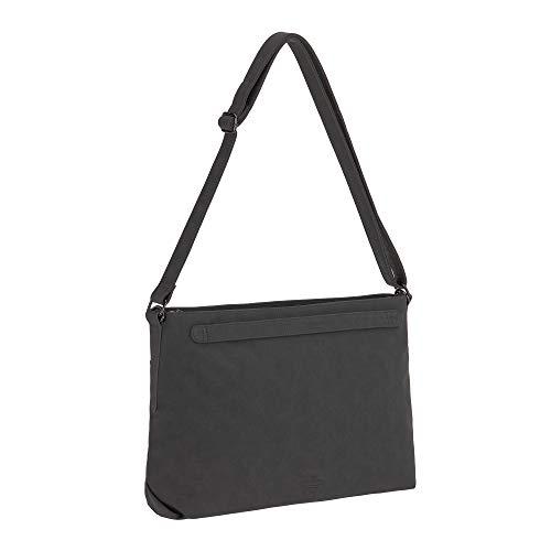 LÄSSIG Baby Wickeltasche Umhängetasche mit Zubehör veganes Leder/Tender Shoulder Bag anthracite