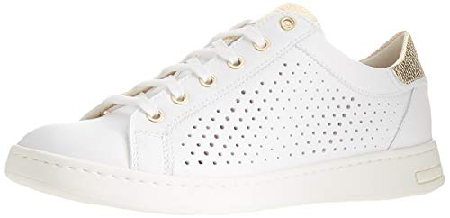 Geox D Jaysen B, Zapatillas Mujer, Oro Blanco, 38 EU