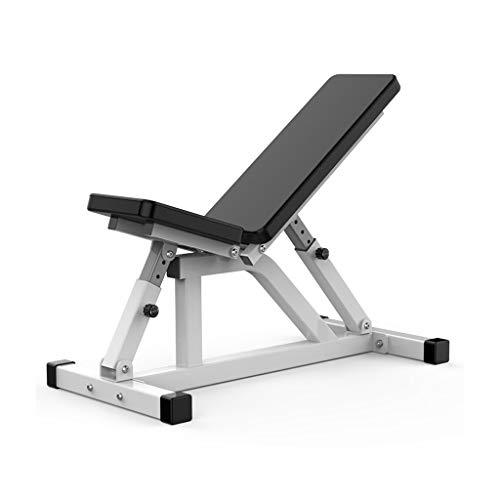 Falt-gewichtstabelle Hantelbank Flachbank Handelsmultifunktionsbauch Board Sit-ups Fitness Equipment Bauch Sport Stuhl (Color : Black, Size : 110 * 40 * 47cm)