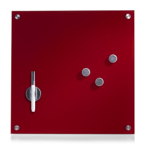 Zeller-Present - Pizarra magnética Cristal 40 x 40