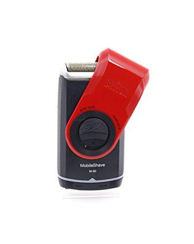 Braun M-60r Máquina de afeitar de láminas Recortadora Negro, Rojo - Afeitadora (Máquina de afeitar de láminas, Negro, Rojo, Batería, 1 h)