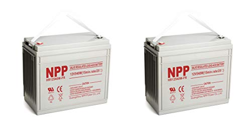 NPP 12V 160Ah 12Volt AGM Deep Cycle Rechargeable SLA Battery,12V 3240Watts, 540Watts/ Cell (15min.Rate) UPS Battery / (2Pack)