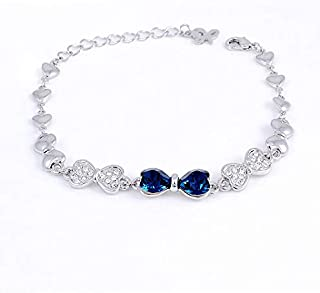 Swarovski Elements Women's 18K White Gold Plated Bracelet - SWR-003