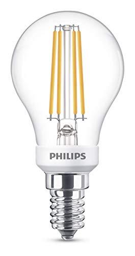 Philips Lighting Warm White Lampadina LED Sfera, Attacco E14, 5 W Equivalenti a 40 W, Dimmerabile