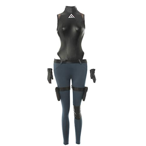 Anime Kusanagi Motoko Cosplay Costume Fancy Dress Halloween (S) Black
