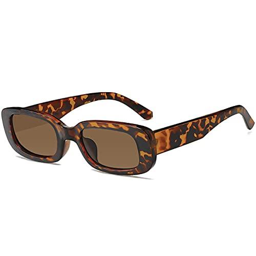 Bokueay Paquete de 2 gafas de sol rectangulares de gran tamaño para mujer - Gafas de sol vintage de gran tamaño Gafas de sol de gran tamaño de los años 90 para mujer Retro negro y carey & hellip;