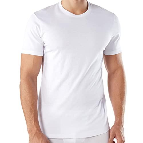 Intimitaly® 3 T-Shirt Uomo 100% Cotone Magliette Underwear Bianche Colorate Maniche Corte Essential (3 Bianche, 6ª-52-XL)