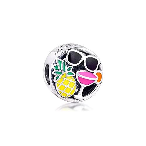 LIIHVYI Pandora Charms para Mujeres Cuentas Plata De Ley 925 Joyas Originales Sum R Fun Compatible con Pulseras Europeos Collars