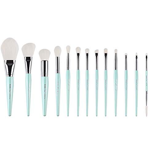 Hzd Set de pinceaux de maquillage de long pôle, un ensemble complet de 13 débutants pinceau blush brush pinceau fard à paupières (Couleur : Bleu clair)