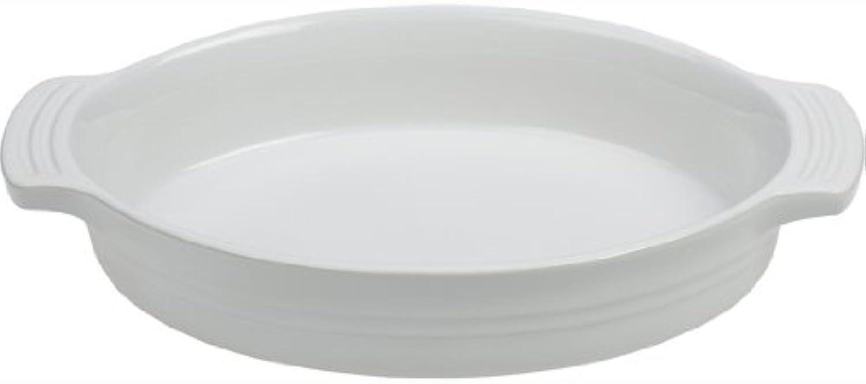 Le Creuset Stoneware 9-Inch Oval Baking Dish, White