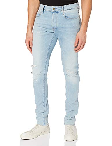 G-STAR RAW Herren Jeans Hose Rovic Zip 3d Straight Tapered jeans, Lt Aged Destroy 9136-1243, 35W / 34L