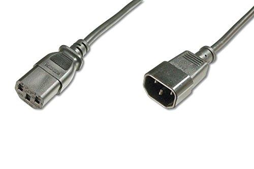 ASSMANN Verlängerung für Netzanschluss-, Kaltgerätekabel, EU Version, C14 auf C13, Stecker/Buchse, H05VV-F3G, 1.0 mm², Länge 5.0 m