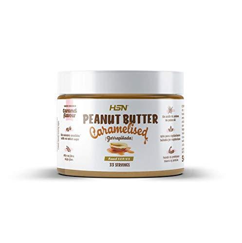 Mantequilla de Cacahuete Garrapiñada de HSN | Peanut Butter Caramelised | 100% Natural | Delicioso Sabor a Caramelo | Sin Aceite de Palma ni Azúcares Añadidos | No-GMO, Vegetariano | 500 gr