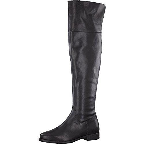 Tamaris Damen Stiefel 25516-31,Frauen Boots,Lederstiefel,Langschaftstiefel,Reißverschluss,Blockabsatz 2.5cm,Black,EU 40