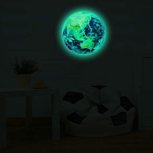 Leuchtsticker Wandtattoo Mond Leuchtaufkleber, Rovinci Wandsticker Selbstklebend 20cm Fluoreszierend Wandaufkleber Leuchtender Aufkleber Hausdekoration DIY, Schlafzimmer Wohnzimmer Kinderzimmer