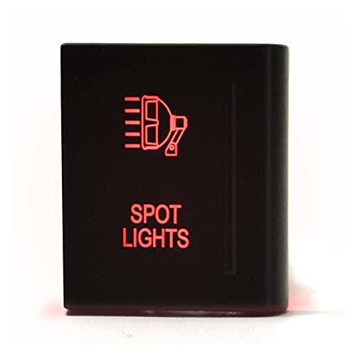 Development 12V 3A LED luz de pulsador Rojo Interruptor de Empuje de la Barra de Encendido Interruptor de Encendido de Apagado Ajuste Universal para VW AMAROK se Ajusta al Lado Derecho