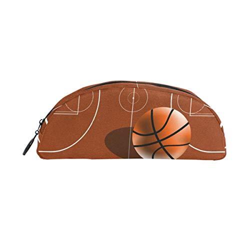 Porta lápices Porta bolígrafos Campo de baloncesto Bolso de papelería con cremallera Maquillaje para niñas Niños