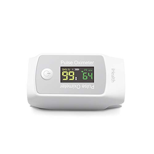 iHealth Wireless Pulse Oximeter PO1, Portable Fingertip Blood Oxygen...