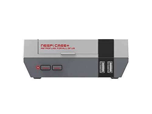 AKNES RETROFLAG NESPi Case + Plus Funktionale Power-Taste mit Safe Shutdown für Raspberry Pi 3 B + (B Plus) mit Lüfter und Kühlkörpern