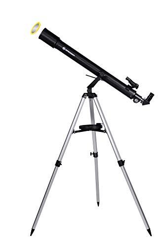 Bresser Sirius 70/900 AZ Telescopische refractor, voor jong en oud, met smartphone-camera-adapter, inclusief statief en omvangrijke accessoires, ideaal voor eenvoudige start van de astronomie