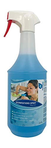 KaiserRein Megaclean 1L Desinfektions-Reiniger Spray Desinfektionsspray Flächen Desinfektionsmittel Hygiene-Reiniger Desinfektion begrenzt viruzid