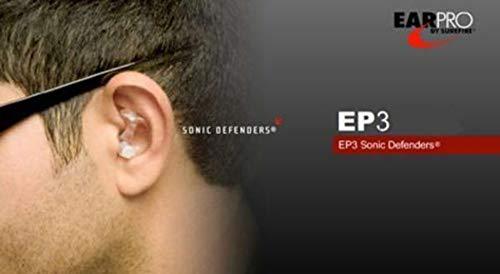Surefire Erwachsene Gehörschutz EP3 Sonic, Transparent, Klein, LAS-EP3-SPR - 2
