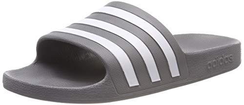 adidas Unisex-Erwachsene Adilette Aqua Badeschuhe, Grau (Grey/Footwear White/Grey 0), 43 EU