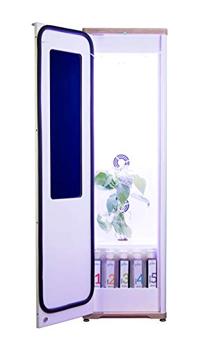 Grobo Premium Grow Box - Unique Design Glass Door Indoor Plants Growing Machine Automated Hydroponics System Including Nutrients for Herbs, Fruits, Flowers & Vegetables Planting Smartphone Controlled