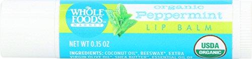 Whole Foods Market, Organic Peppermint Lip Balm, 0.15 oz
