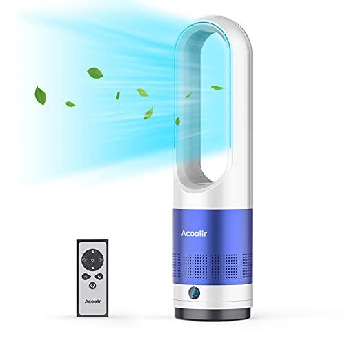 """Ventilator Leise 22\"""", Turmventilator mit Fernbedienung, Standventilator Rotorlos mit Timer, 80°Oszillation, 8 Geschwindigkeitsstufne für Wohnzimmer, Schlafzimmer, Büro"""