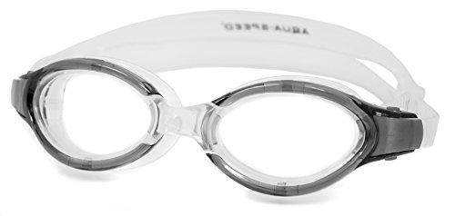 Aqua Herren Speed Triton Monoblock-Schwimmbrille Einheitsgröße Transparent/Black