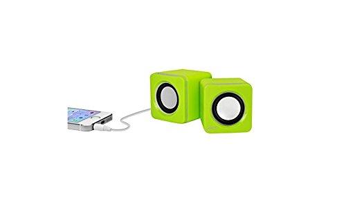 ARCTIC S111 M - Mobiles Mini-Soundsystem, Mini Speaker mit überzeugender Klangqualität für Smartphone, Tablet oder Laptop, Kraftvolle Bässe und kompaktes Design - Lime