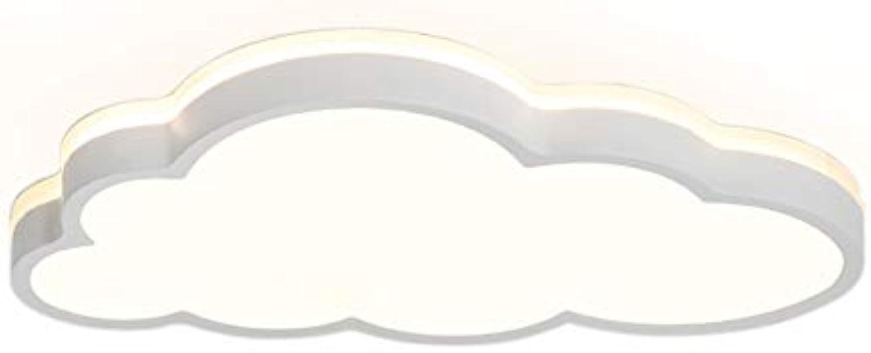 LED Wolken Deckenleuchte, 360° Einstrahlung Decke, für Jungen und Mdchen Schlafzimmer Kinderzimmer Klassenzimmer Deckenlampe Wandleuchte (Weies Licht, Gre   58  5.7CM 2880 Lumen)