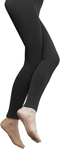 normani 2 x Sehr warme Damen Thermo Leggings/innen Fleece mit Elasthan Farbe Schwarz Größe 36-38