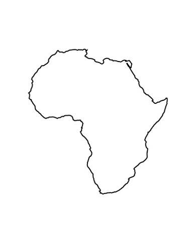 Pack of 5 Africa Stencils Made from 4 Ply Mat Board 18x24, 16x20, 11x14, 8x10, 5x7