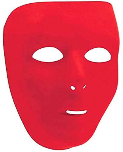 Amscan Full Face Mask, Party Accessory, Red