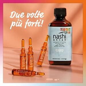 Nashi Argan Box Kit Anticaduta Shampoo e Fiale 6 Settimane - 12 fiale e 1 shampoo
