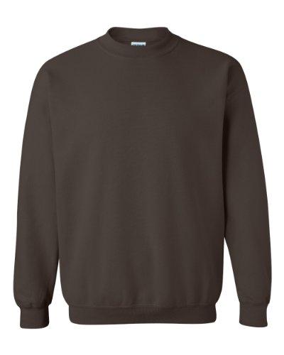 Gildan Men's Heavy Blend Crewneck Sweatshirt - Large - Dark Chocolate