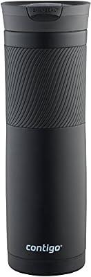 Contigo 72952 Vacuum-Insulated Stainless Steel Travel Mug, 24oz, Matte Black