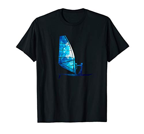 Blau Windsurfen Segel Windsurf Lover T-Shirt Graphic TShirt