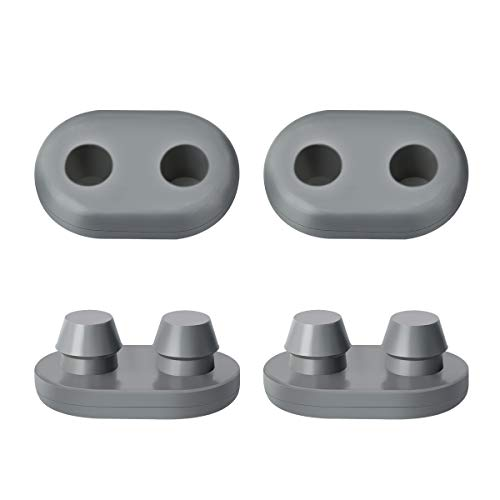 AIEVE Cooler Feet, 4 Pack Replacement Non-Slip Rubber Feet for RTIC Coolers 45qt 65qt 110qt 145qt and YETI Tundra Models to Prevent Sliding, Grey (Oval) -  K0501A04