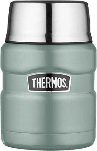 THERMOS Alimentaire, Acier Inoxydable Silicone Plastique, Bleu Canard, 470ml