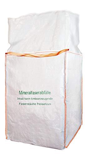KMF BIG BAG Mineralwolle Sack MiWo Glaswolle Faserstaub Mineralfaserabfälle XL 90x90x120cm (1)