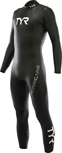 TYR Men's Hurricane Wetsuit Category 1, Black/White, Medium