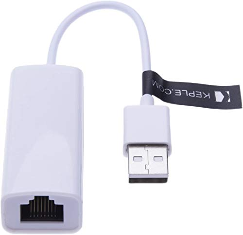 Adaptador Ethernet de red USB a RJ45 Lan, convertidor con cable compatible con Nintendo Switch, Wii, Wii U, Sony Vaio, Chromebook, Raspberry Pi 3 B + Windows 10, 8.1, Mac OS 10.13, Linux USB 2.0 2.0
