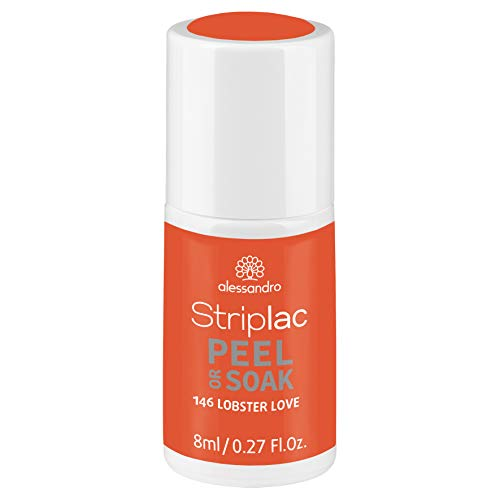 alessandro Striplac Peel or Soak Lobster Love - LED-Nagellack in Orange - Für perfekte Nägel in 15 Minuten, 8 ml