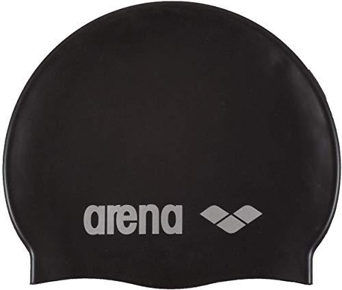 Arena Classic Silicone, Cuffia Unisex Adulto, Nero (Black-Silver), Taglia Unica